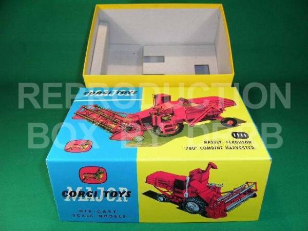 Corgi. #1111 Massey Ferguson '780' Combine Harvester - Reproduction Box